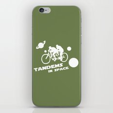 Tandems in Space in Green iPhone & iPod Skin