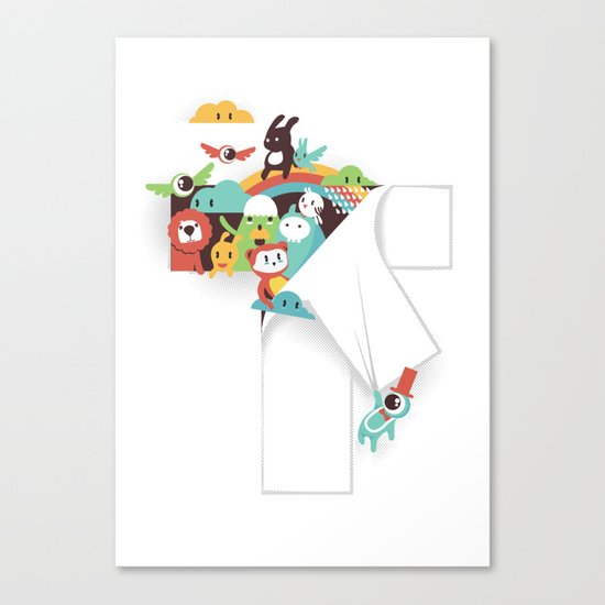 There is a T in the Team (but no I) Canvas Print