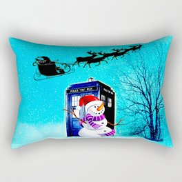 Tardis Christmas Rectangular Pillow