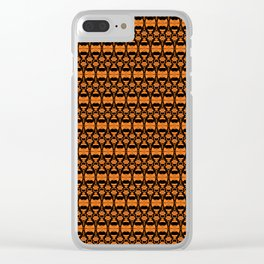 Dividers 02 in Orange Brown over Black Clear iPhone Case