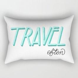 #Travel Often #Illustration #Lettering #GraphicDesign Rectangular Pillow