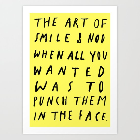 THE ART OF Art Print