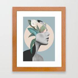 Floral Portrait /collage Framed Art Print