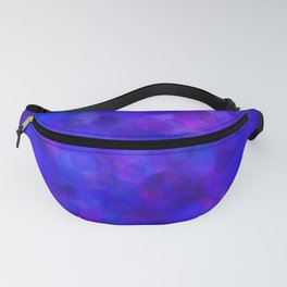 Ultramarine Blue with Purple Pattern Fanny Pack