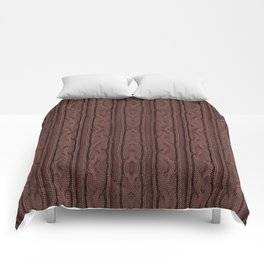 Brown plait jersey cloth texture Comforters
