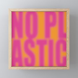 No Plastic # 1 – Please Framed Mini Art Print