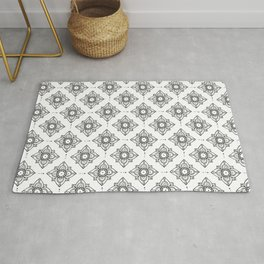 black and white figures Rug