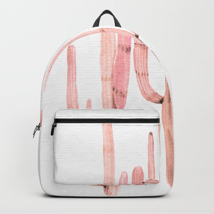 Cactus Trio Pink by Nature Magick Backpack