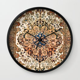 Ferahan Arak  Antique West Persian Rug Print Wall Clock