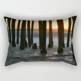 Sunset Under The Pier Rectangular Pillow