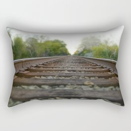 Train Tracks Rectangular Pillow
