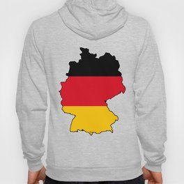 Germany Map with German Flag Hoody