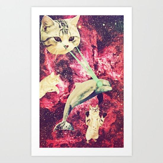 Galactic Cats Saga 2 Art Print