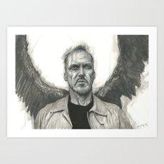 Squark! Birdman / Riggan Thomson / Michael Keaton Art Print