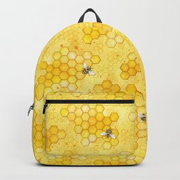 Meant to Bee - Honey Bees Pattern Backpack