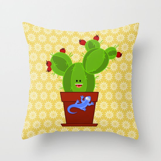 my dear cactus Throw Pillow