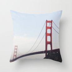 Golden Gate at dusk Throw Pillow