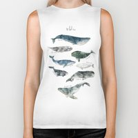 whales Biker Tanks featuring Whales by Amy Hamilton
