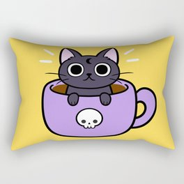 Happy Coffee Cat Rectangular Pillow