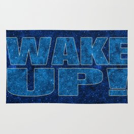 Wake Up! Starry Background Rug