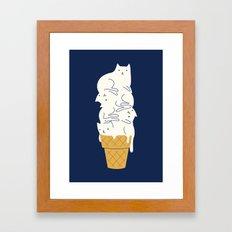 Meowlting Framed Art Print