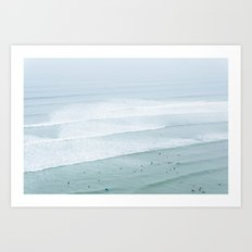 Tiny Surfers from the Sky 3, Lima, Peru Art Print