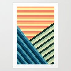 Stripes Are Us Art Print