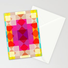 Panes - Colorful Decorative Abstract Art Pattern Stationery Cards