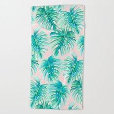 Paradise Palms Blush Beach Towel