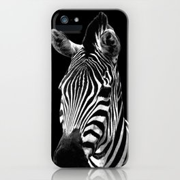 Zebra Black iPhone Case