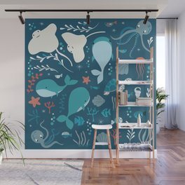 Sea creatures 004 Wall Mural