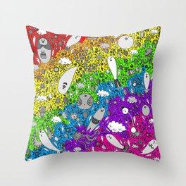Dream in Rainbow Throw Pillow
