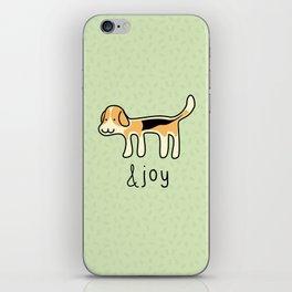 Cute Beagle Dog &joy Doodle iPhone Skin