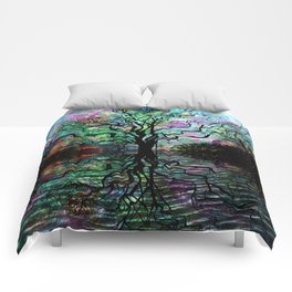 Van Goghs Aurora Borealis Reflection Comforters
