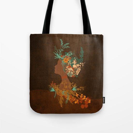 Mujer floral Tote Bag