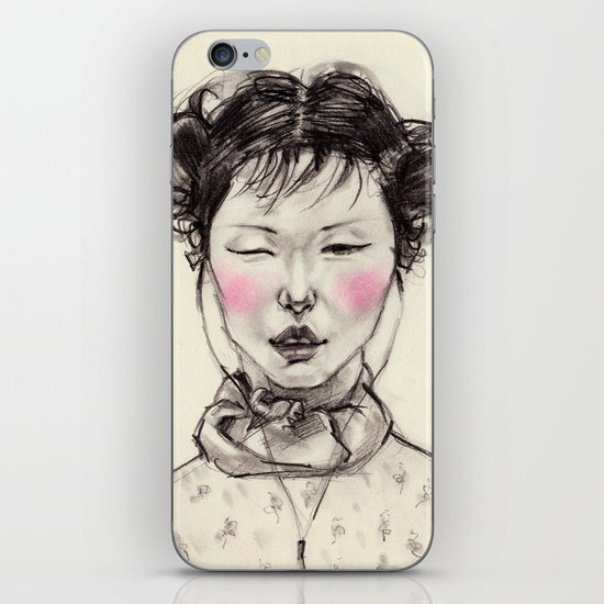 Chinese Girl iPhone & iPod Skin