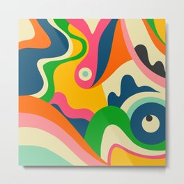 Colorful Mid Century Abstract  Metal Print