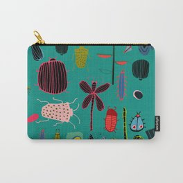 bugs and insects green Carry-All Pouch