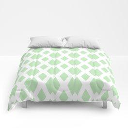Daffy Lattice Mint Comforters