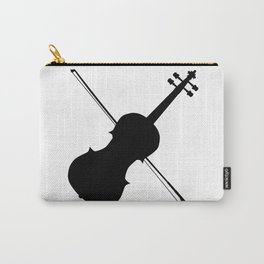 Fiddle Silhouette Carry-All Pouch