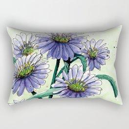 Alpine Aster Rectangular Pillow