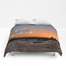 Gone fishing with dad Comforters
