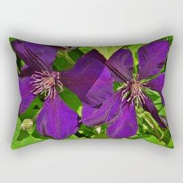Double Jackmanii Rectangular Pillow