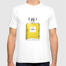 Perfume No 5 Mens Fitted Tee White MEDIUM