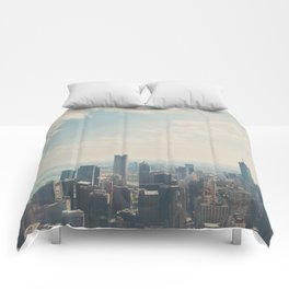 Looking down on the city ... Comforters