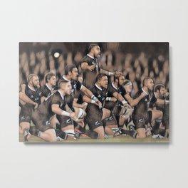 HAKA - NZ All Black's Metal Print