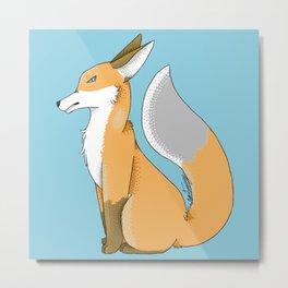 Grumpy Fox Metal Print