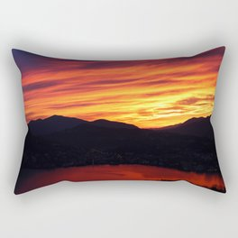 Sunset behind the mountains Rectangular Pillow
