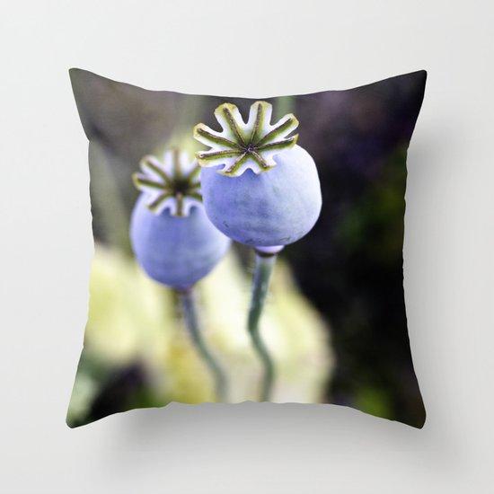 Poppy heads Throw Pillow