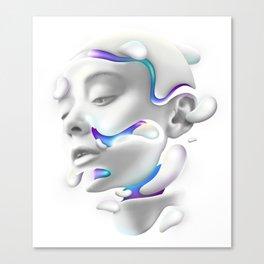 3D Woman Face Canvas Print